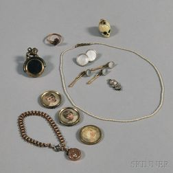 Small Group of Assorted Antique Jewelry