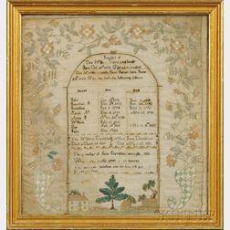 Two Framed Davidson Family Registers
