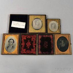 Four Daguerreotypes of Painted Portraits