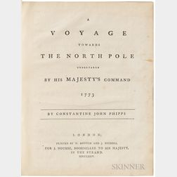Mulgrave, Constantine John Phipps, Baron (1744-1792) A Voyage towards the North Pole undertaken by His Majesty's Command 1773.