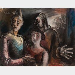 Edouard-Léon-Louis Edy-Legrand (French, 1892-1970)      Saltimbanque Family.