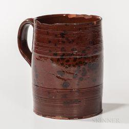 Manganese-decorated Redware Mug
