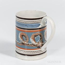 Cable- and Slip-decorated Quart Mug