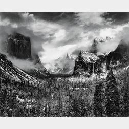 Ansel Adams (American, 1902-1984)      Clearing Winter Storm, Yosemite National Park, California
