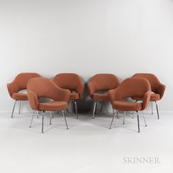 "Six Eero Saarinen (1910-1961) for Knoll International ""Executive"" Chairs"