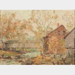 Alexander Rummler (American, 1867-1959)      Covered Bridge