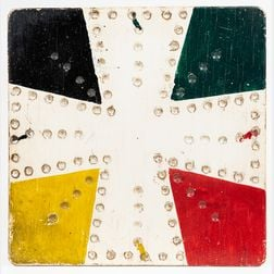 Painted Parcheesi Game Board