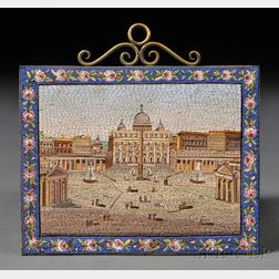 Micromosaic Depicting St. Peter's Square in Vatican City