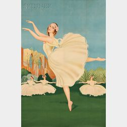After Valentine J. Hugo (French, 1887–1968)      Ballerina En Pointe