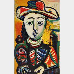 After Pablo Picasso (Spanish, 1881-1973)      Jeune femme assise dans un fauteuil
