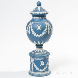Dudson Blue Jasper Dip Potpourri Vase and Covers
