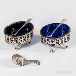 Two George III Sterling Silver Salt Cellars