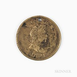 1820 North West Co. Brass Token