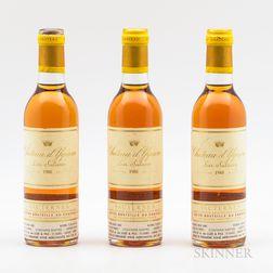 Chateau dYquem 1988, 3 demi bottles