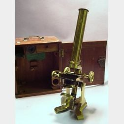 Lacquered-Brass Compound Microscope by Newton & Co.