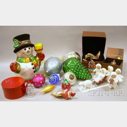 Large Lot of Contemporary Collector Christmas Ornaments and Decorations