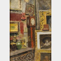 Gifford Beal (American, 1879-1956)      Interior View, Purportedly William Merritt Chase's Tenth Street Studio