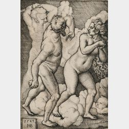 Hans Sebald Beham (German, 1500-1550)      Adam and Eve Expelled from Paradise