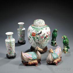 Seven Porcelain Items