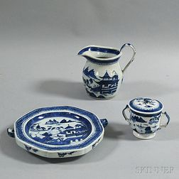 Three Pieces of Canton Porcelain
