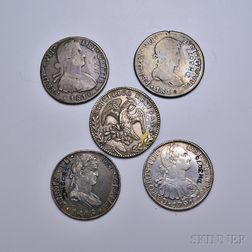 Eleven Spanish and Colonial Coins