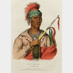 Framed Color Print of an Ioway Chief