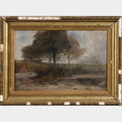 Gustave-Eugène Castan (Swiss, 1823-1892)      Landscape with Figure