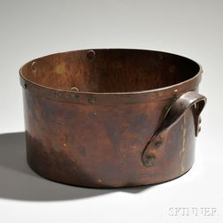 Large Round Copper Measure