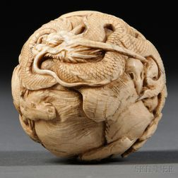 Ivory Carved Ball