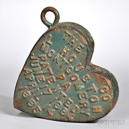 Green-painted Heart-form Windmill Weight