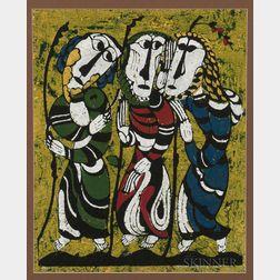 Sadao Watanabe (Japanese, 1913-1996)      Three Figures