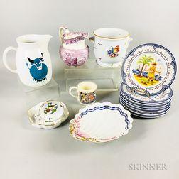 Fifteen Ceramic Tableware Items