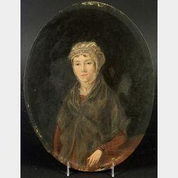 Manner of John Singleton Copley (American, 1737-1815)  Portrait of a Seated Lady.