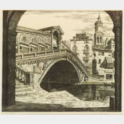 John Taylor Arms (American, 1887-1953)  Shadows of Venice