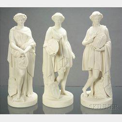 Three Wedgwood Carrara Figures