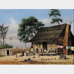 William Aiken Walker (American, 1838-1921)      Wash Day at the Cabin