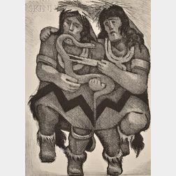 Jean Charlot (American/French, 1898-1979)      Snake Dance