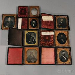 Eight Daguerreotype Portraits of Gentlemen