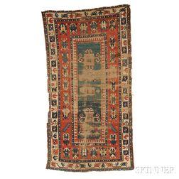 Kazak Long Rug Fragment