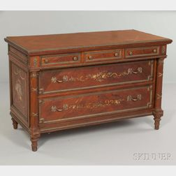 Louis XVI-style Painted Walnut Commode