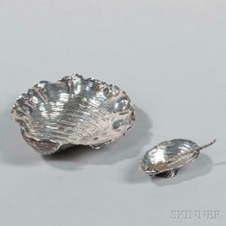 Five Gorham Sterling Silver Shell-form Items