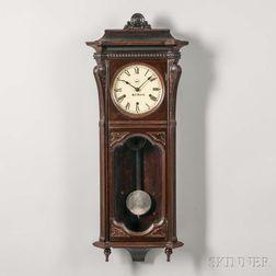 "Walnut Seth Thomas ""Marcy"" Wall Clock"