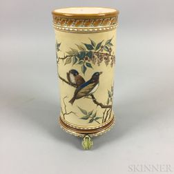 Mettlach Stoneware Cylinder Vase