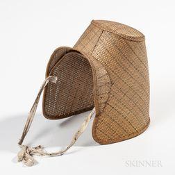 Woven Straw Bonnet