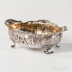 Rococo-style MF & Co. Sterling Silver Footed Dish