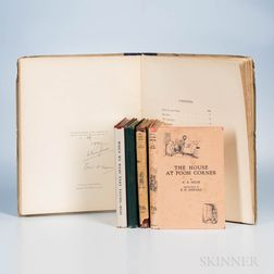 Milne, A.A. (1882-1956) Five Winnie the Pooh   Titles, One Signed.