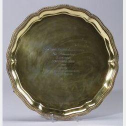 Sterling Gold-washed Racing Trophy Salver