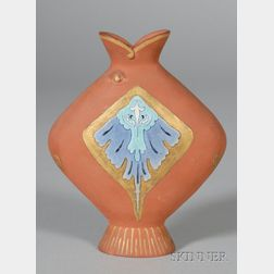 Wedgwood Christopher Dresser Design Terra Cotta Fish Vase