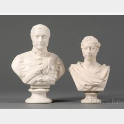 Two Parian Busts of Edward VII
