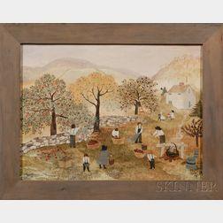 Jeanne Davies (American, 1936-)      Apple-Picking Scene.